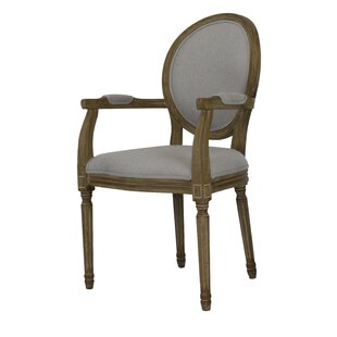 Auclair Weathered Upholstered Dining Chai..
