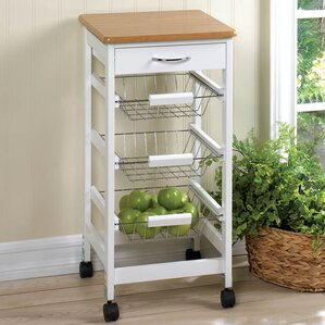 Kitchen Cart with Wood Top by Zingz & Thingz Sale