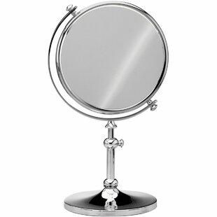 Best Dinsmore Round Double-Sided Makeup/Shaving Mirror By Darby Home Co