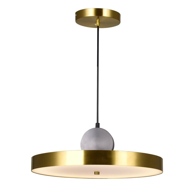 Cwilighting Saleen 1 Light Single Drum Led Pendant With Crystal Accents Wayfair