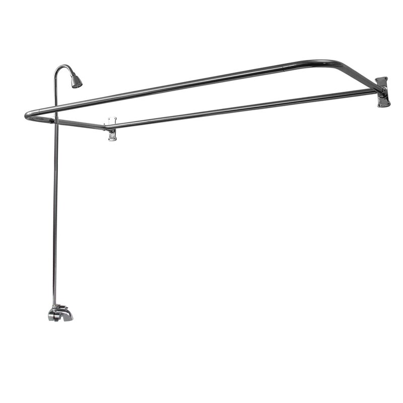 Barclay Double Handle Wall Mounted Clawfoot Tub Faucet Trim With Diverter Reviews Wayfair
