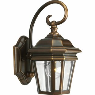 Alcott Hill Triplehorn1-Light Incandescent Outdoor Wall Lantern
