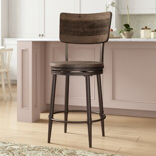 Cathie 26 Swivel Bar Stool by Gracie Oaks