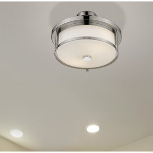 Crumley 2-Light Semi Flush Mount by Breakwater Bay
