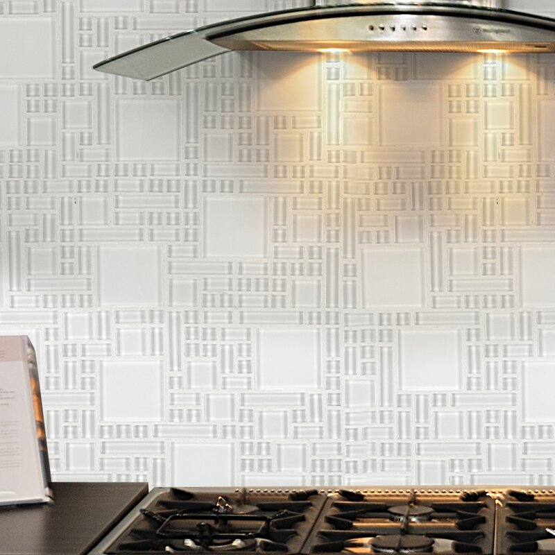 12 X 12 Glass Peel Amp Stick Mosaic Tile In Pure White