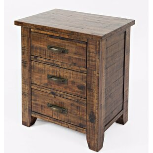 Buy luxury Athol 3 Drawer Nightstand by Three Posts