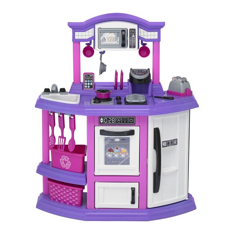 American Plastic Toys 22 Piece Baker S Kitchen Set Reviews Wayfair