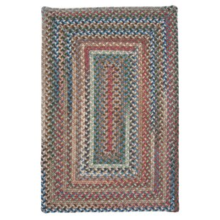 Gloucester Dusk Braided Red Area Rug by Colonial Mills