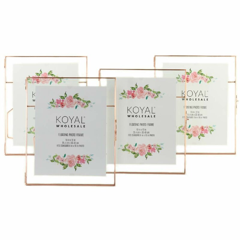 Koyal Wholesale Pressed Glass Floating Picture Frame Wayfair