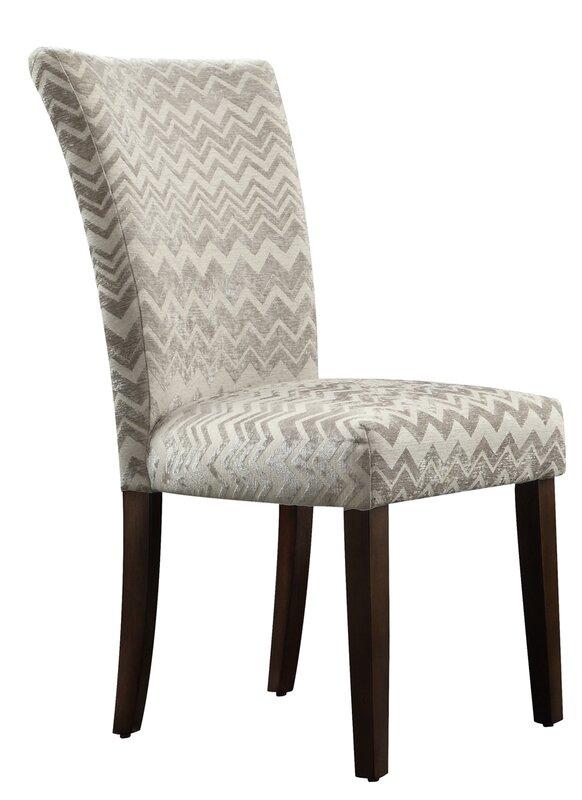 Hurst Chevron Print Parson Chair