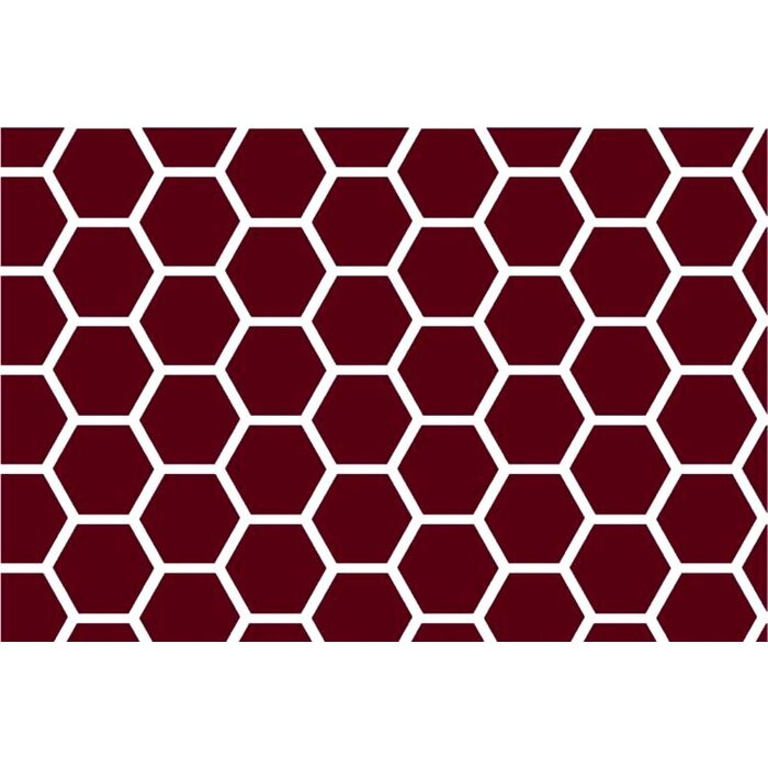 Fits BabyBjorn Travel Crib Light SheetWorld Fitted Sheet - Burgundy Honeycomb Made In USA