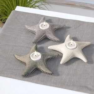 Starfish Candleholder Dish (Set of 3)