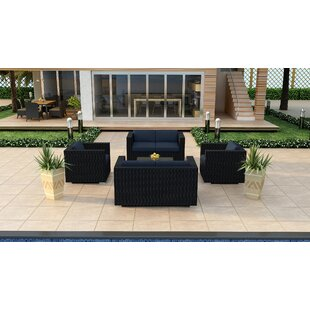 Harmonia Living Urbana 5 Piece Double Loveseat Set with Cushions