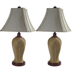 Rattan Resin Inspired 29.5 Table Lamp (Set of 2)