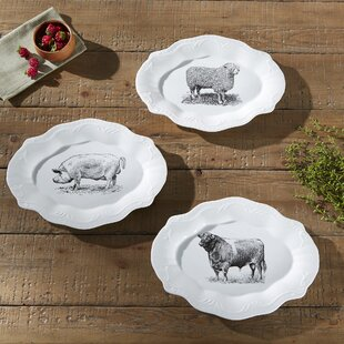 Ono Farmyard Plates (Set of 3)