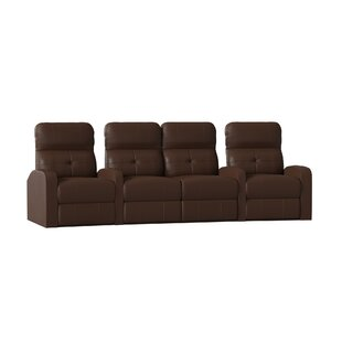 Contemporary Tufted Home Theater Curved Row Seating (Row of 4) Latitude Run
