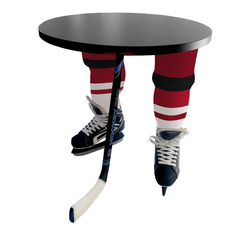 Puryear Hockey Round End Table