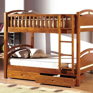 Flounder Twin over Twin Bunk Bed with Drawers by Harriet Bee