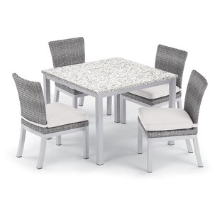 Brayden Studio Saleh 5 Piece Dining Set with Cushion
