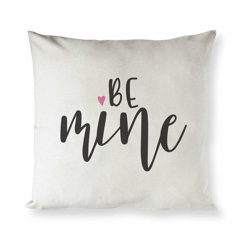 The Holiday Aisle Beller Be Mine Cotton 16 Throw Pillow Cover Wayfair