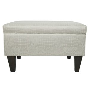 Brooklyn Upholstered Tillie Square Legged Box Storage Ottoman by MJL Furniture