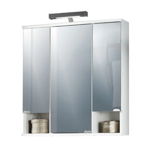 Brandi 67cm X 71cm Surface Mount Mirror Cabinet With LED Lighting By Wade Logan