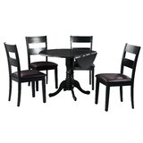 Brompton 5 Piece Drop Leaf Solid Wood Dining Set by Alcott Hill®