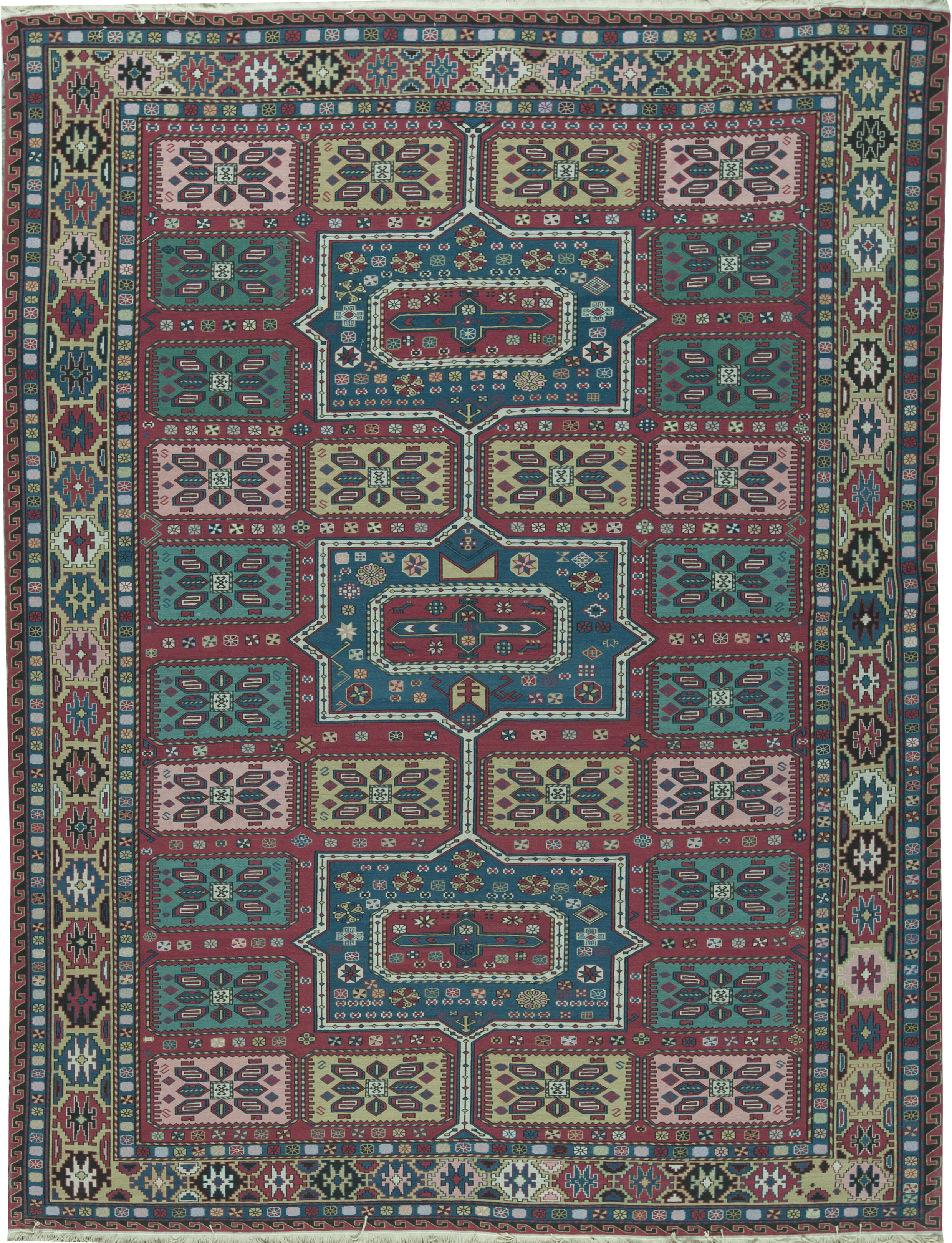 Bokara Rug Co Inc Oriental Hand Knotted Wool Red Green Area Rug Wayfair