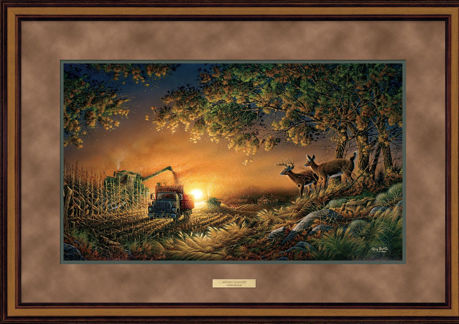 WildWings Sunset Harvest by Terry Redlin Framed Painting Print   Wayfair