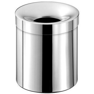 AGM Home Store Round Stainless Steel Open Waste Basket