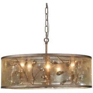 Check Prices Fernand 5-Light Drum Chandelier By Willa Arlo Interiors