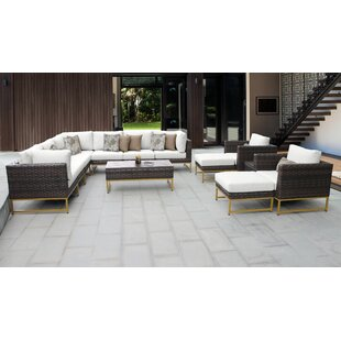 Barcelona Outdoor 13 Piece Sectional Seating Group with Cushions