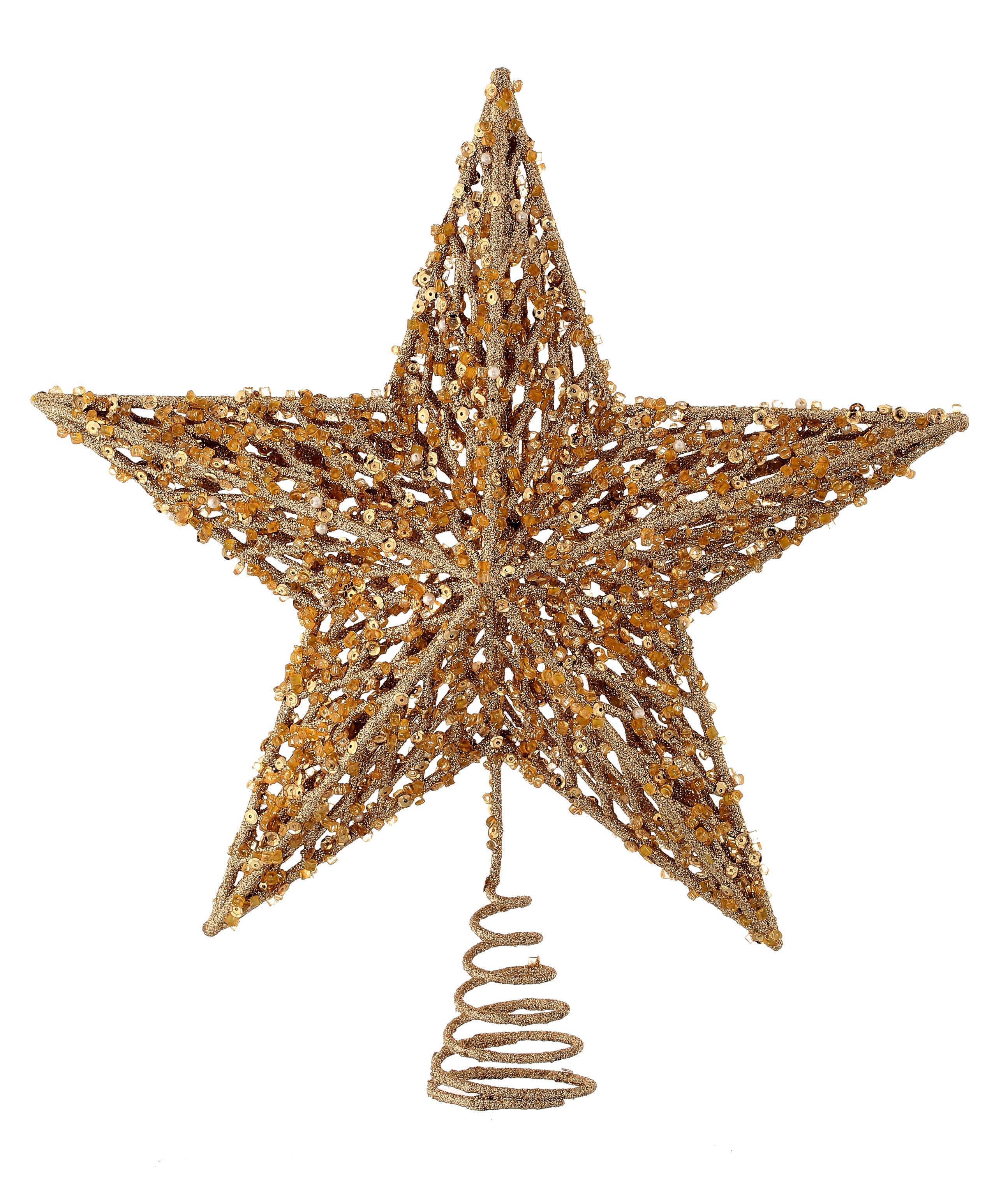Sequin Bead Glitr Star Topper Acbox Tree Topper Reviews Joss Main