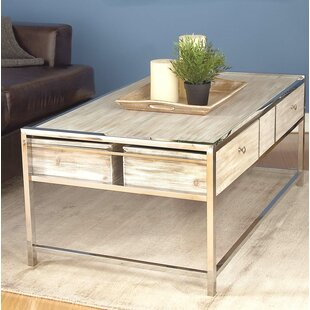 Amot Contemporary Coffee Table with Storage by Highland Dunes