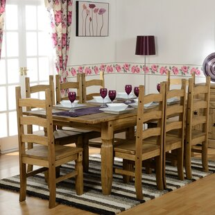 Classic Corona Extendable Dining Set With 8 Chairs