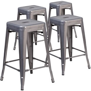 Goffredo 24 Bar Stool (Set of 4) by 17 Stories
