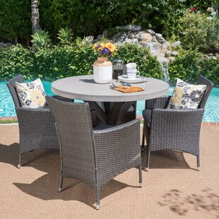Callicles Outdoor 5 Piece Dining Set with Cushions