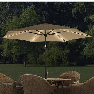 9 ft. LED Hexagonal Market Umbrella by QuikShade