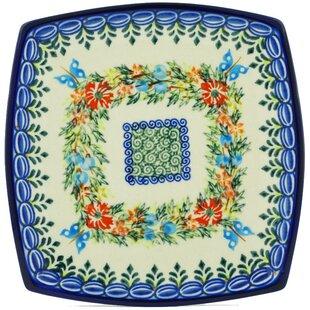 Cornflower and Butterflies Polish Pottery Square Decorative Plate  sc 1 st  Wayfair & Ceramic Decorative Plates You\u0027ll Love | Wayfair
