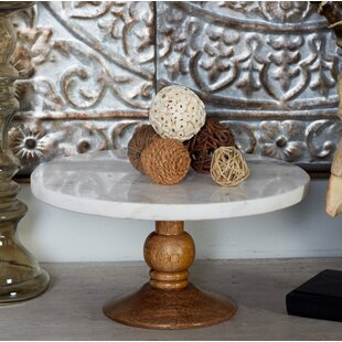 Wood Marble Cake Stand & Marble Cake Stand | Wayfair