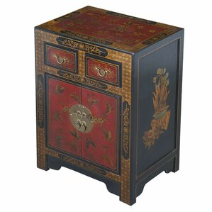 Handmade Oriental Antique End Table With Storage by EXP D?cor