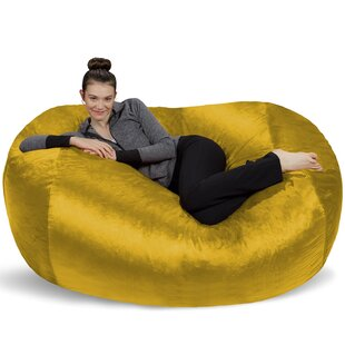 Microsuede Bean Bag Lounger by Latitude Run
