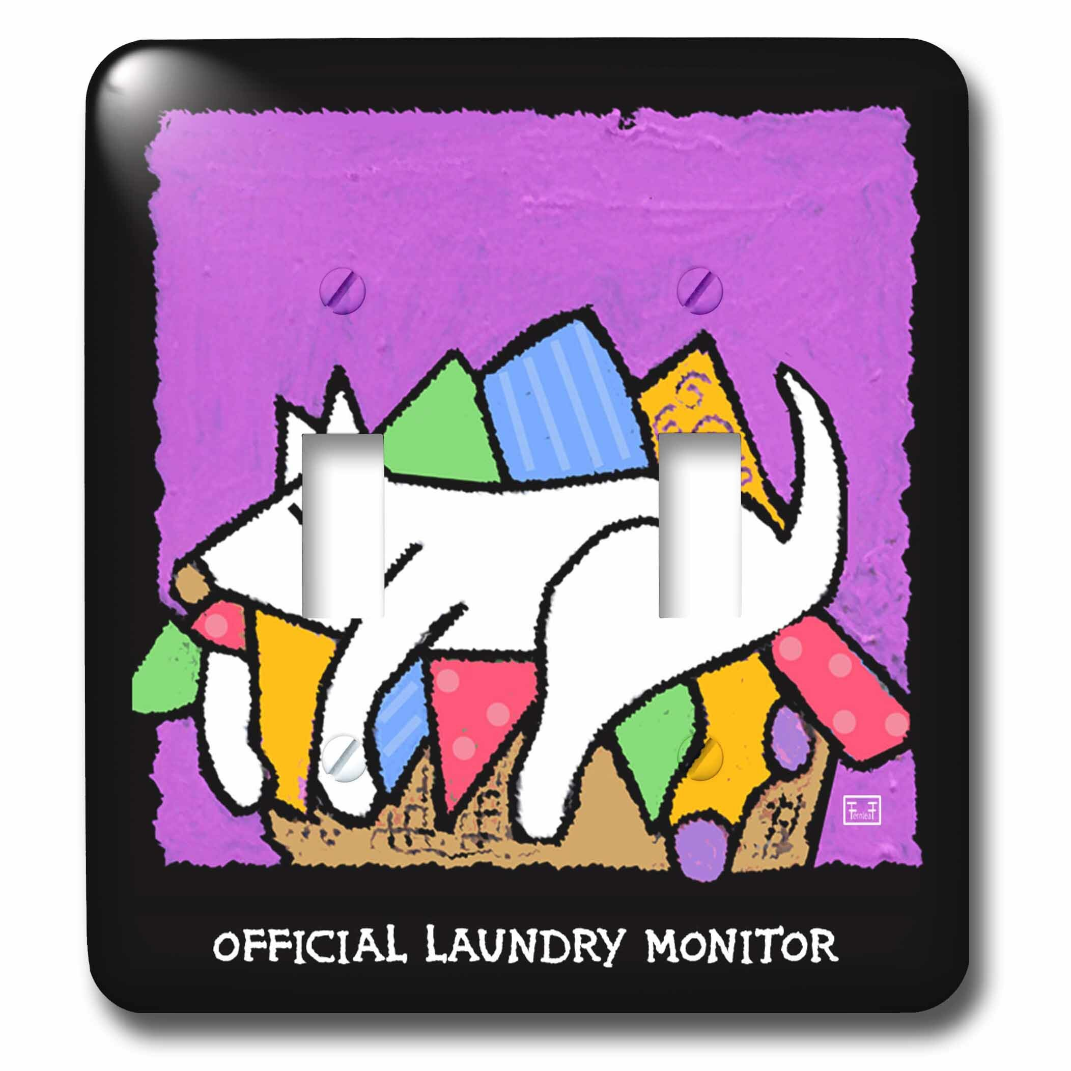 3drose Laundry Monitor Animal Double Toggle Light Switch Wayfair