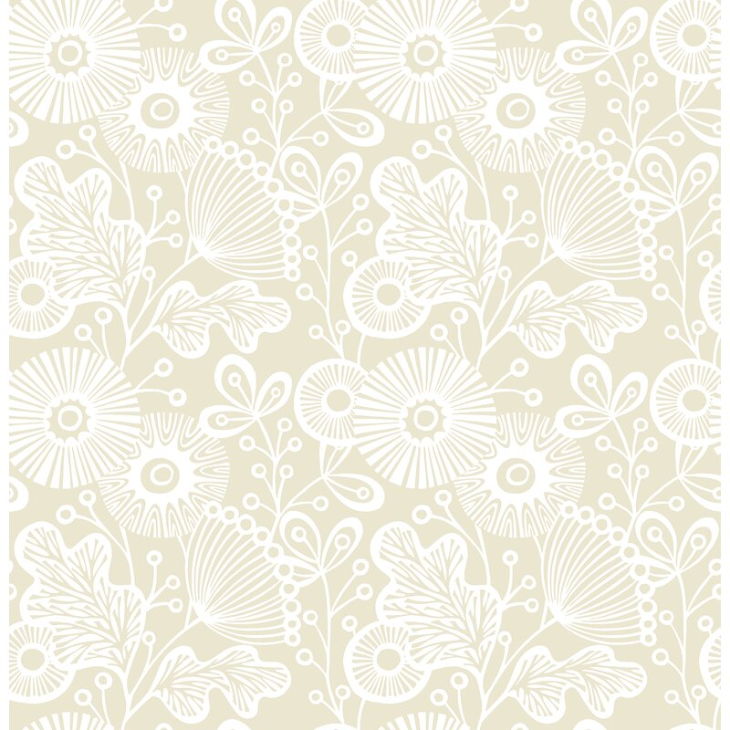 brewster home fashions ana floral 33 l x 20 5 w wallpaper roll perigold ana floral 33 l x 20 5 w wallpaper roll