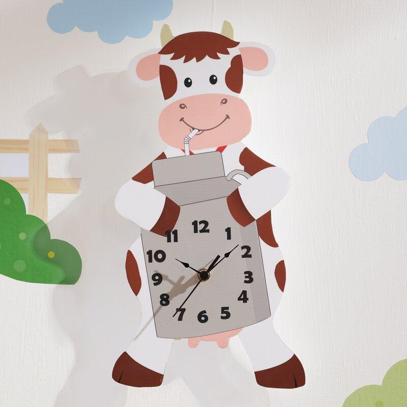 Happy Farm Cow Wall Clock