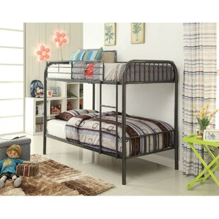 Shop For Cassius Metal Twin over Twin Bunk Bed by Harriet Bee Reviews (2019) & Buyer's Guide