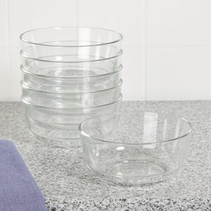 Wayfair Basics 24 oz. Glass Bowls (Set of 6)