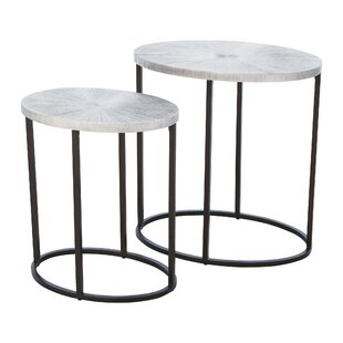 Striated End Table
