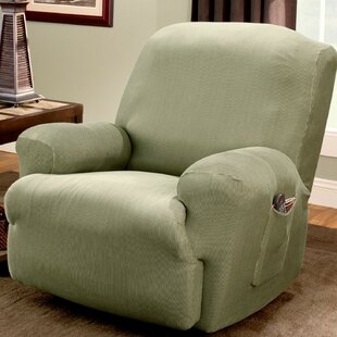 Stretch Stripe T-Cushion Recliner Slipcover