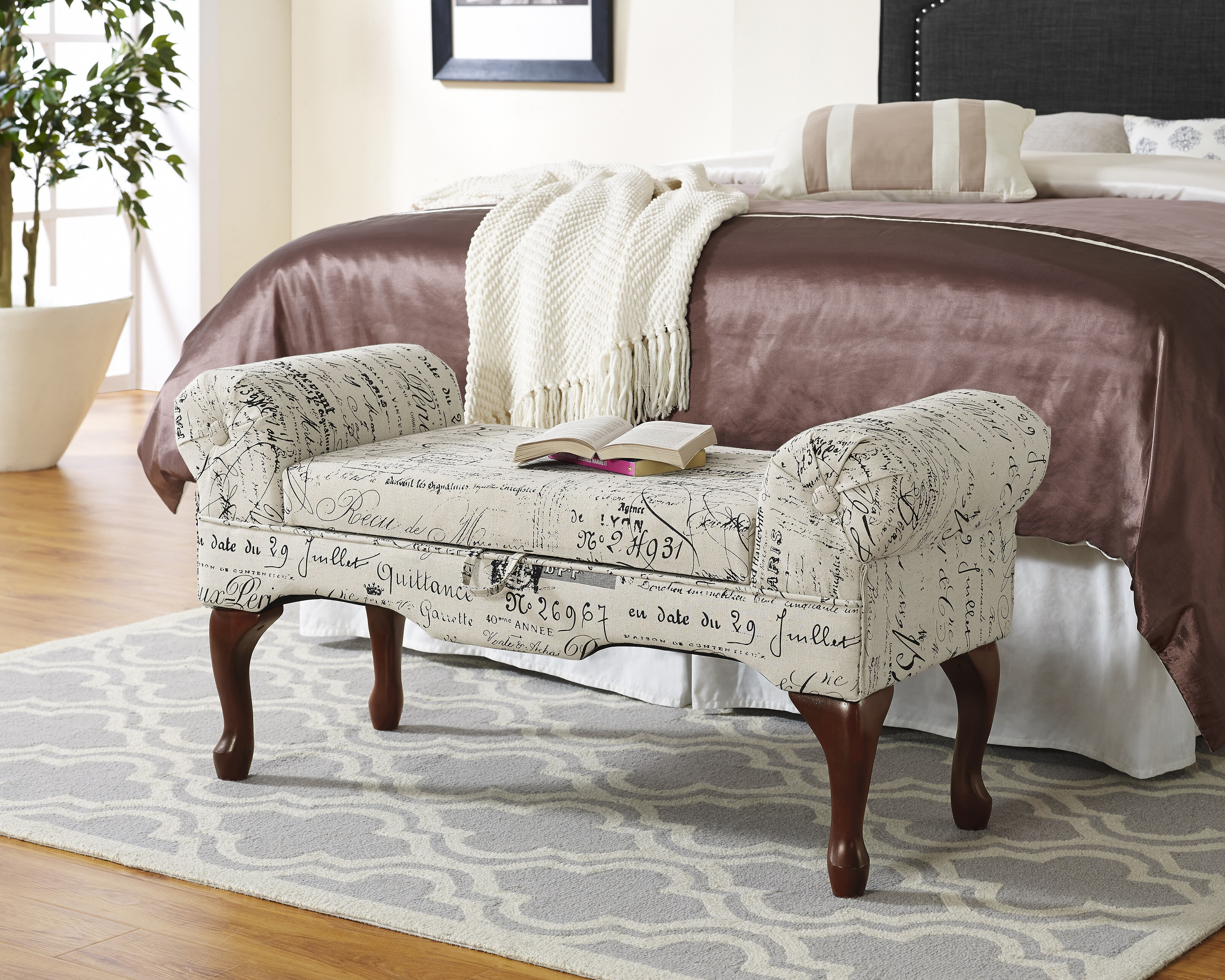 Ophelia Co Wenlock Upholstered Storage Bench Reviews Wayfair